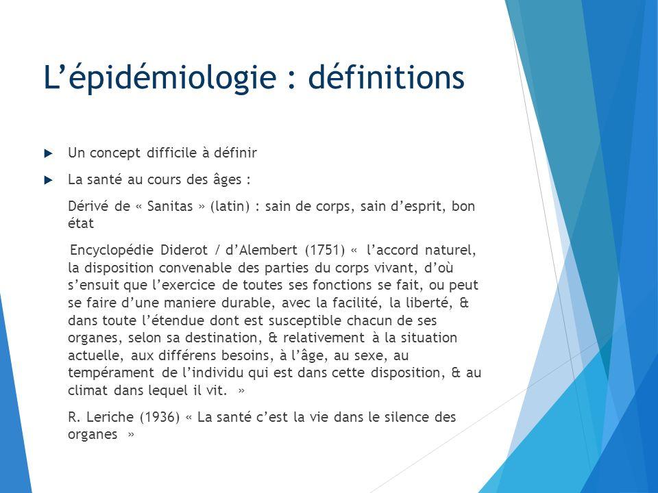 L'épidémiologie : définitions