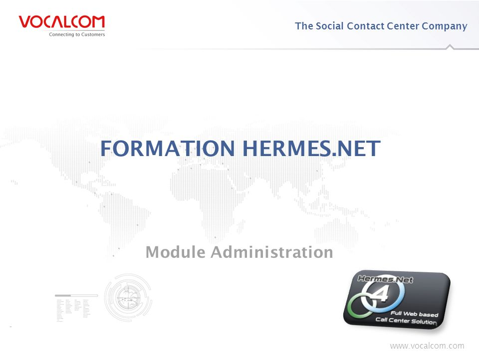 Formation HERMES.NET – Module Administration