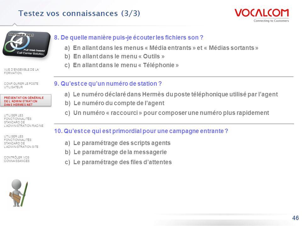 Réponses au QCM VUE D'ENSEMBLE DE LA FORMATION
