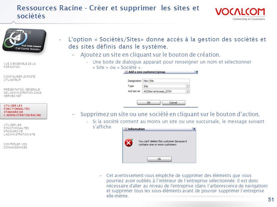 Ressources Racine - Gérez les profils administrateurs (1/5)