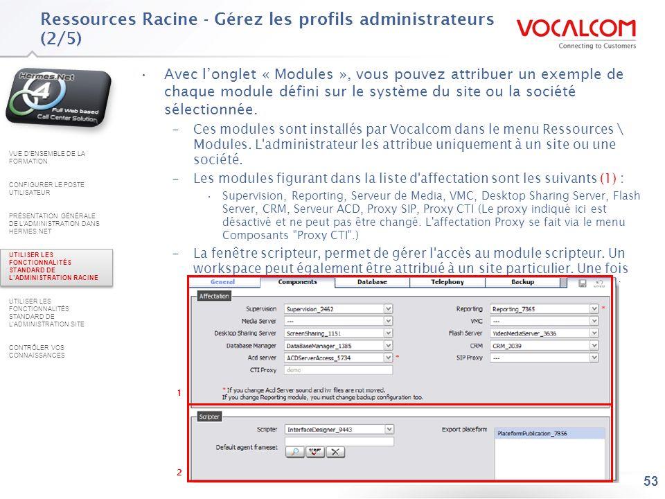 Ressources Racine - Gérez les profils administrateurs (3/5)