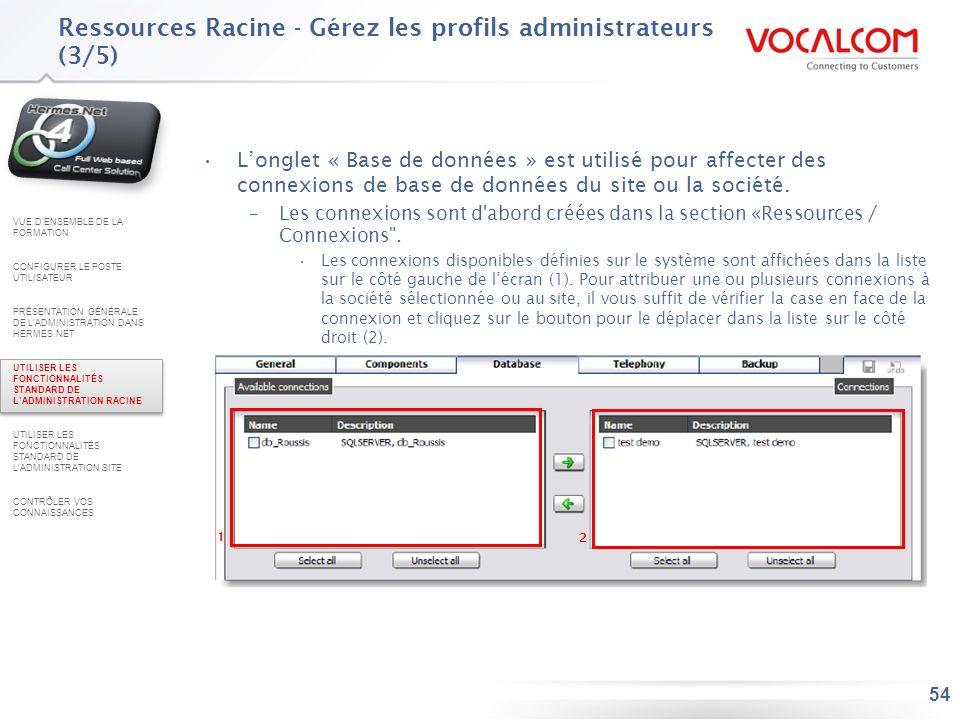 Ressources Racine - Gérez les profils administrateurs (4/5)