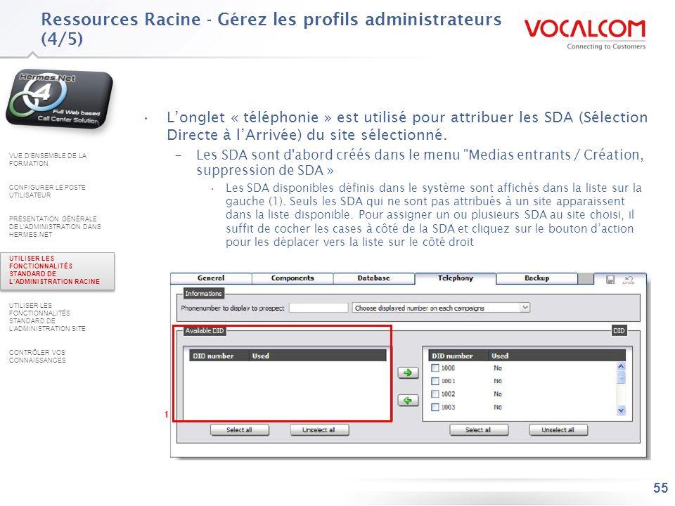 Ressources Racine - Gérez les profils administrateurs (5/5)