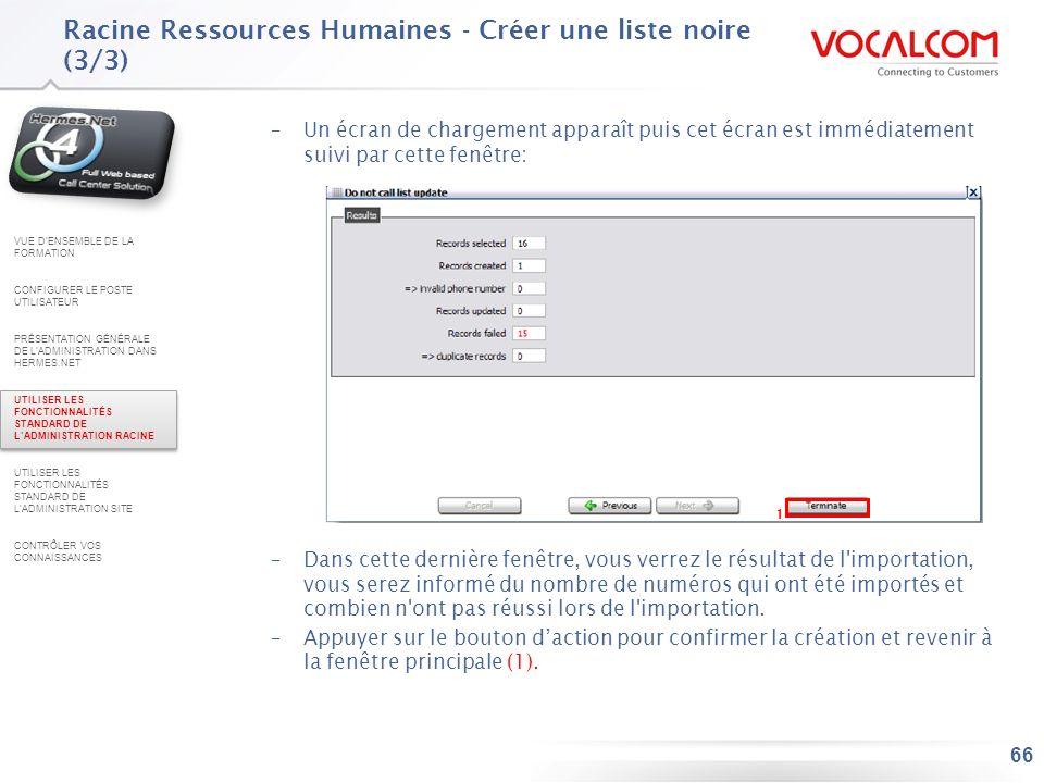 Racine Ressources Humaines - Appliquer votre liste noire (1/2)