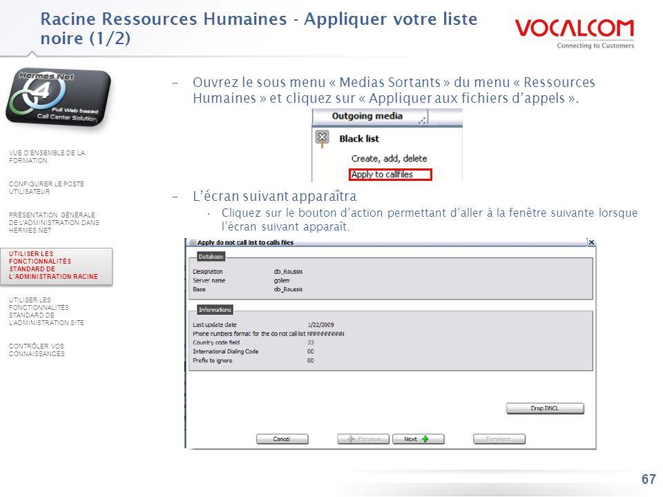 Racine Ressources Humaines - Appliquer votre liste noire (2/2)