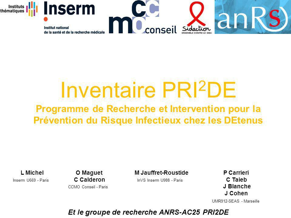Et le groupe de recherche ANRS-AC25 PRI2DE