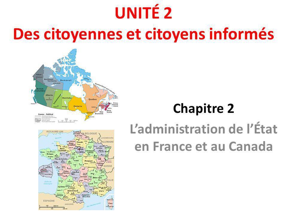 UNITÉ 2 Des citoyennes et citoyens informés