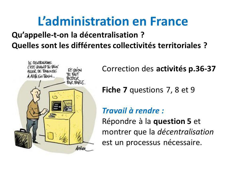 L'administration en France