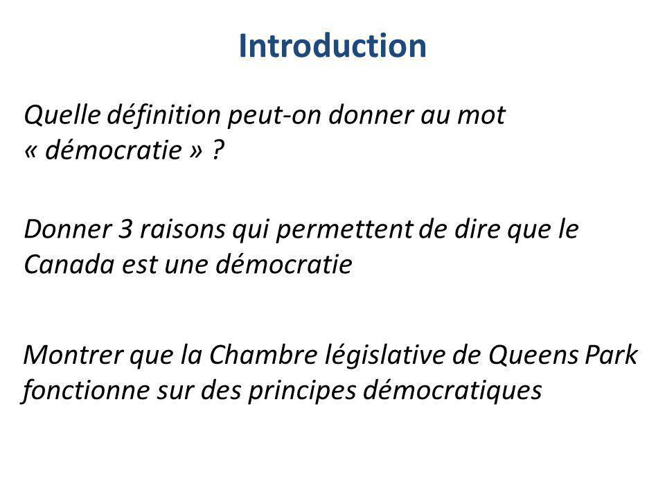 Quelle définition peut-on donner au mot « démocratie »