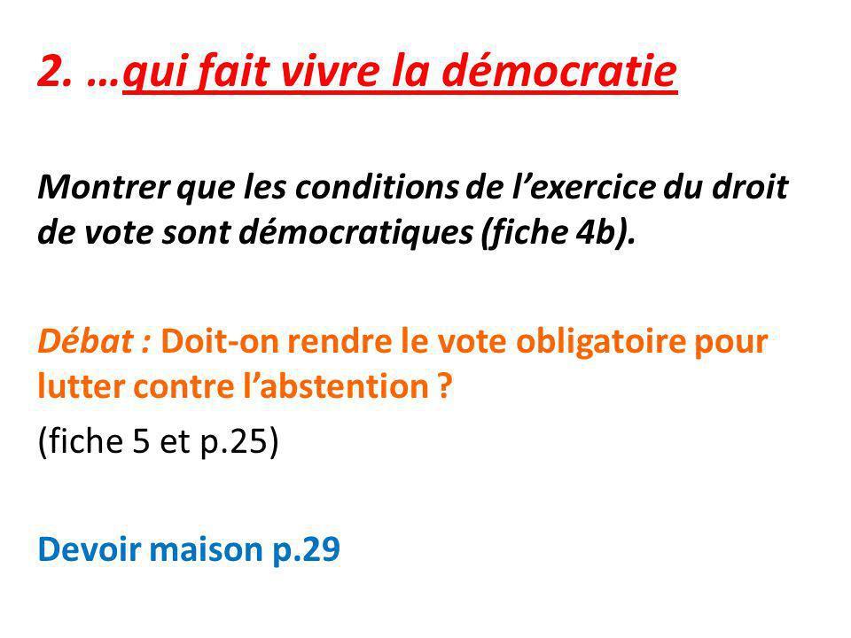 2. …qui fait vivre la démocratie