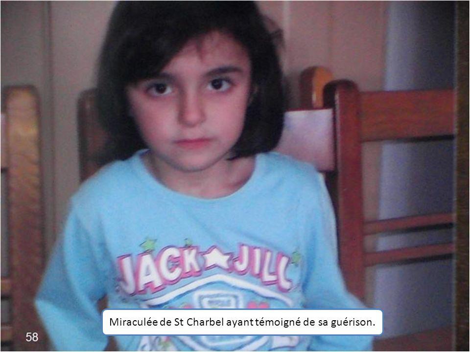 Miraculée de St Charbel ayant témoigné de sa guérison.