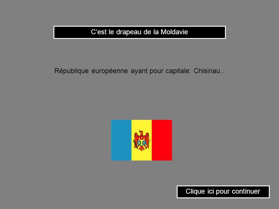C'est le drapeau de la Moldavie