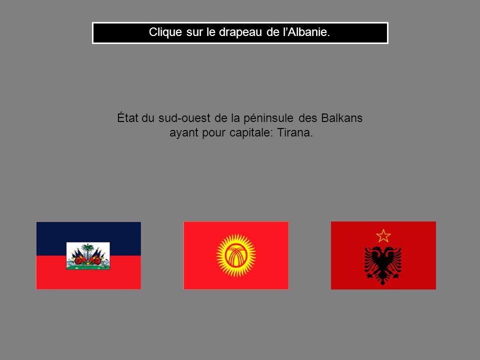 Clique sur le drapeau de l'Albanie.
