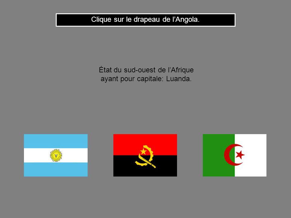 Clique sur le drapeau de l'Angola.