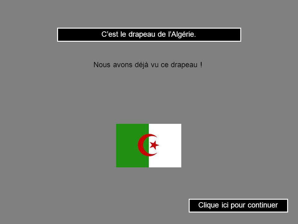C'est le drapeau de l'Algérie.