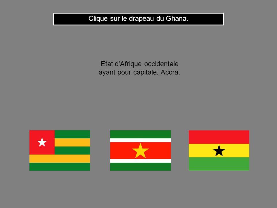 Clique sur le drapeau du Ghana.