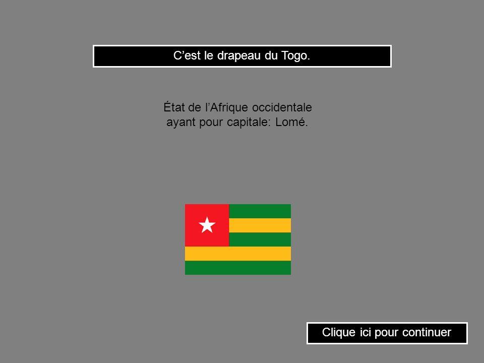 C'est le drapeau du Togo.