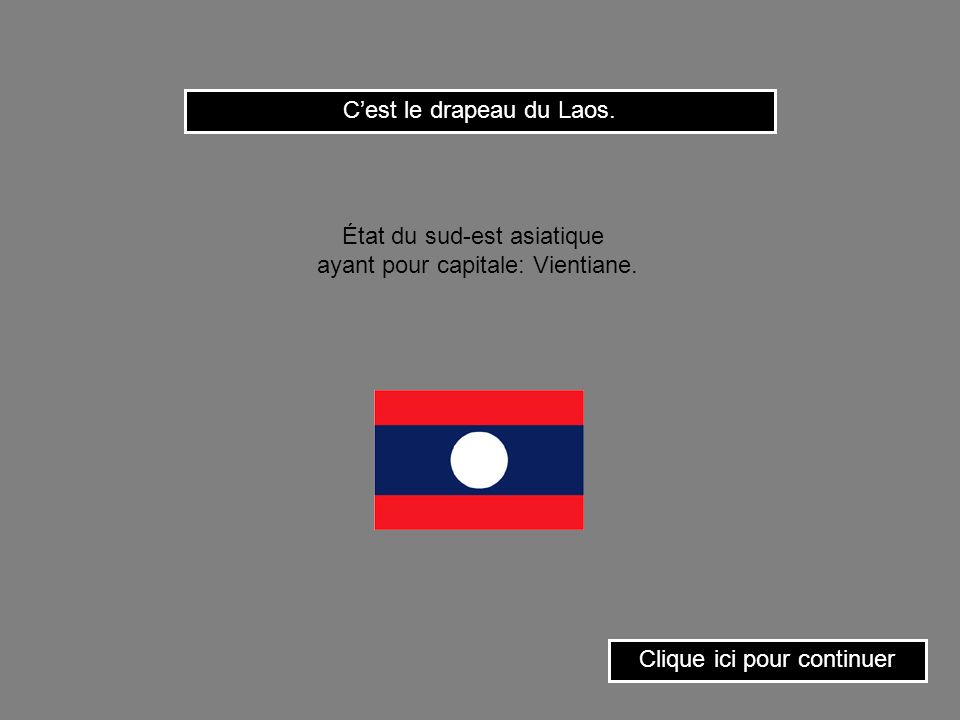 C'est le drapeau du Laos.