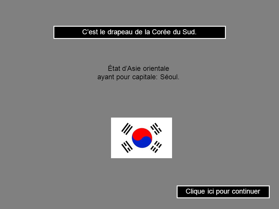 C'est le drapeau de la Corée du Sud.