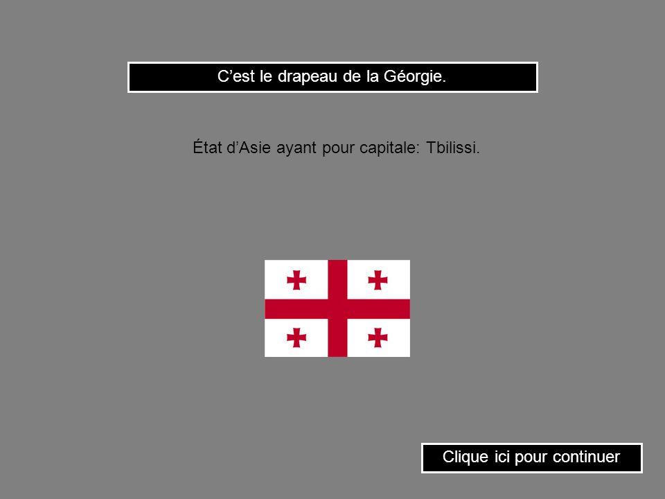 C'est le drapeau de la Géorgie.