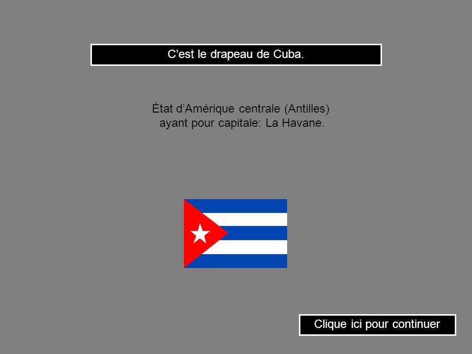 C'est le drapeau de Cuba.