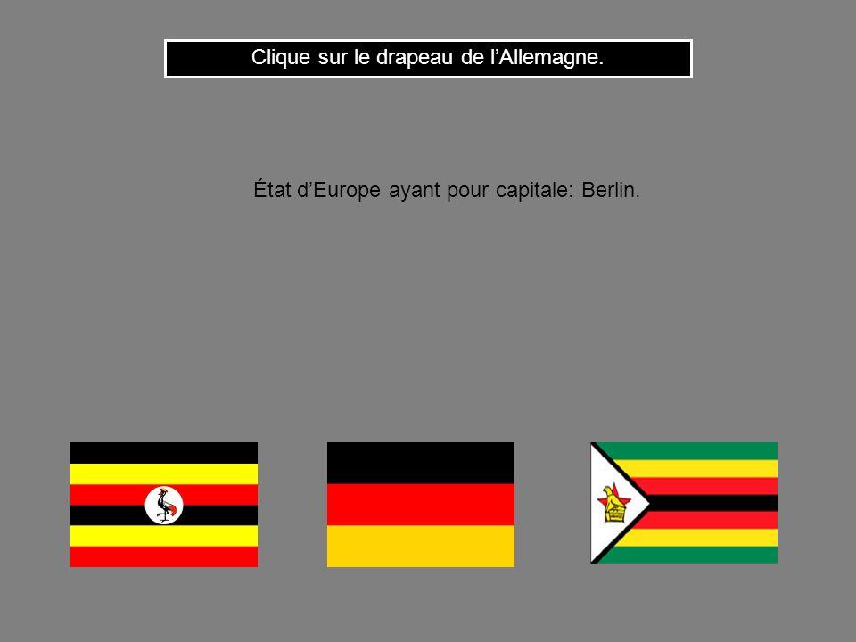 Clique sur le drapeau de l'Allemagne.