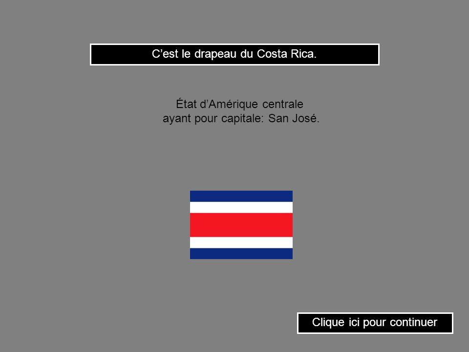 C'est le drapeau du Costa Rica.