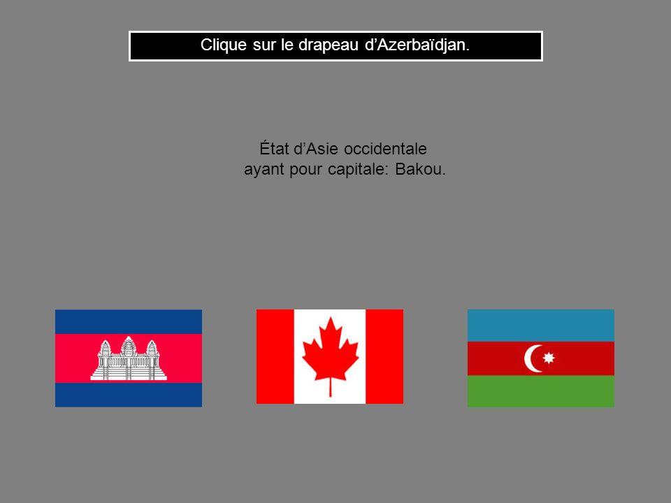 Clique sur le drapeau d'Azerbaïdjan.