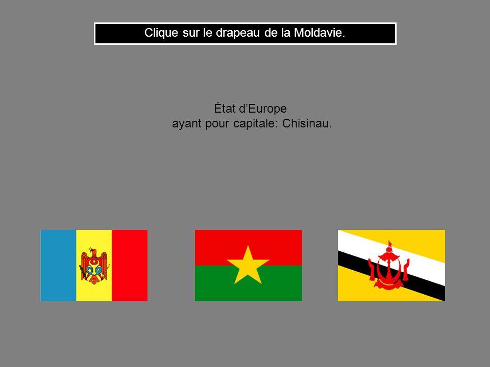 Clique sur le drapeau de la Moldavie.
