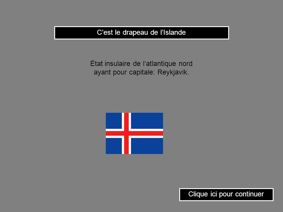 C'est le drapeau de l'Islande