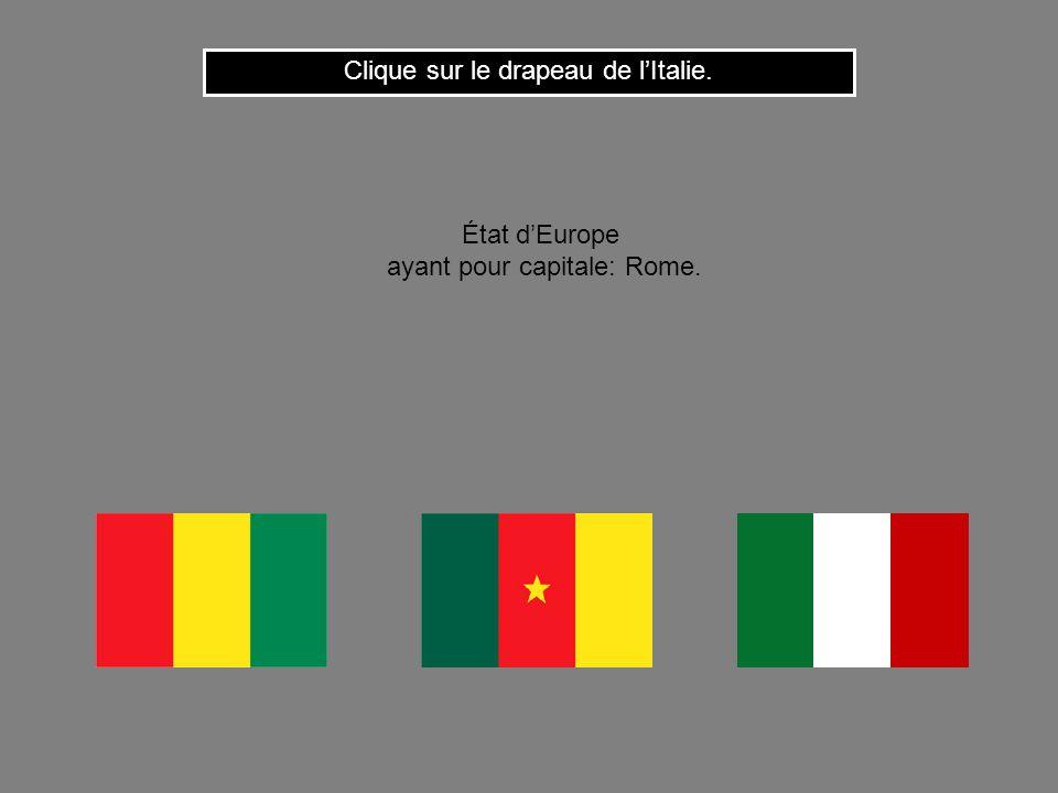 Clique sur le drapeau de l'Italie.