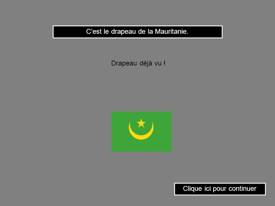 C'est le drapeau de la Mauritanie.