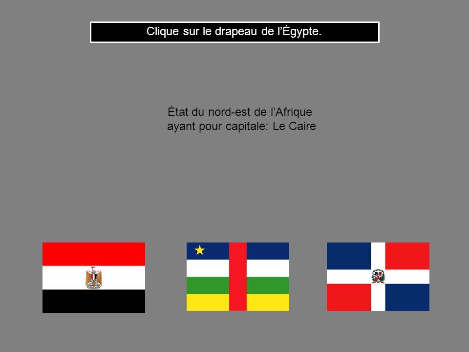 Clique sur le drapeau de l'Égypte.