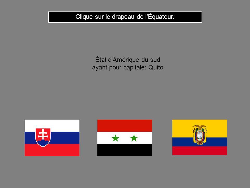 Clique sur le drapeau de l'Équateur.
