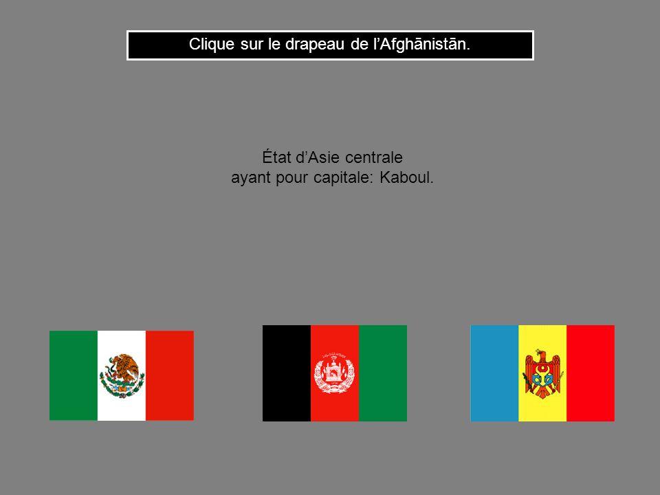 Clique sur le drapeau de l'Afghānistān.