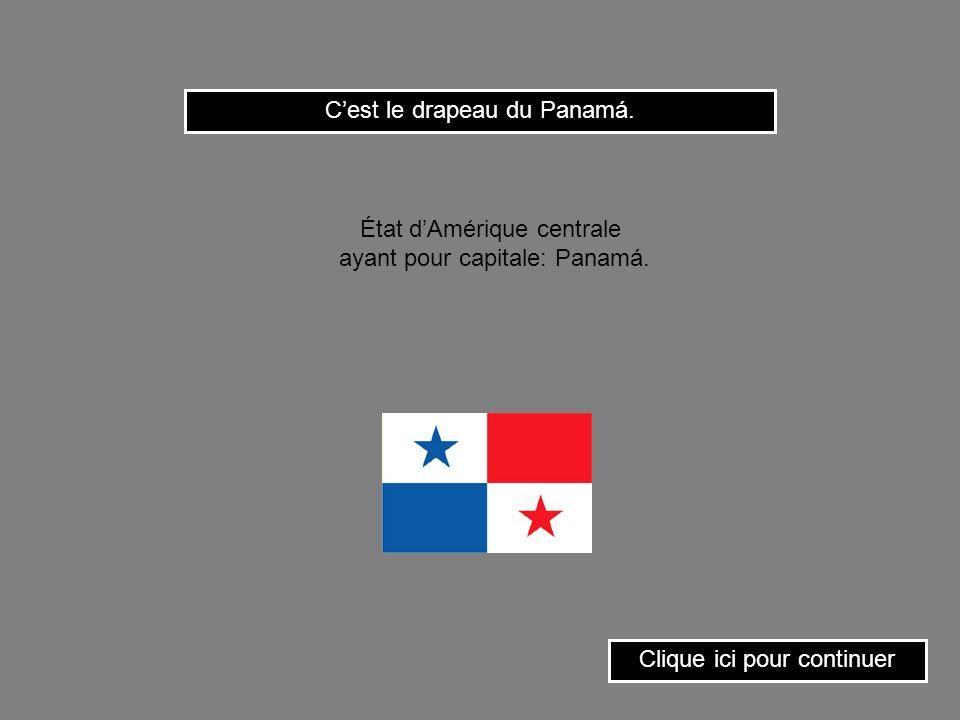 C'est le drapeau du Panamá.