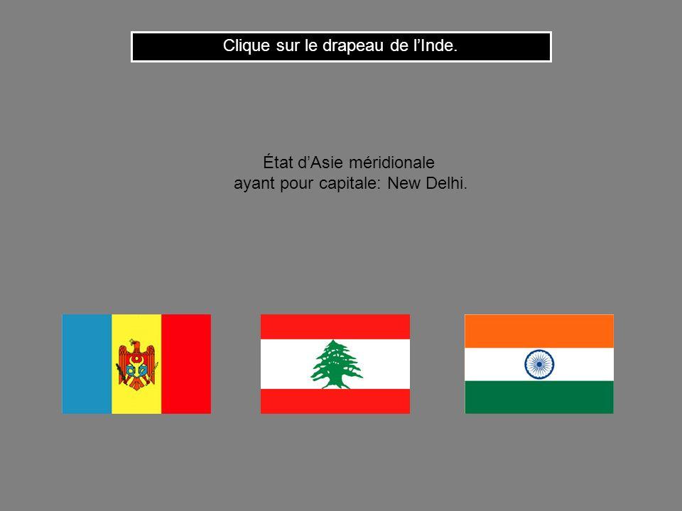 Clique sur le drapeau de l'Inde.