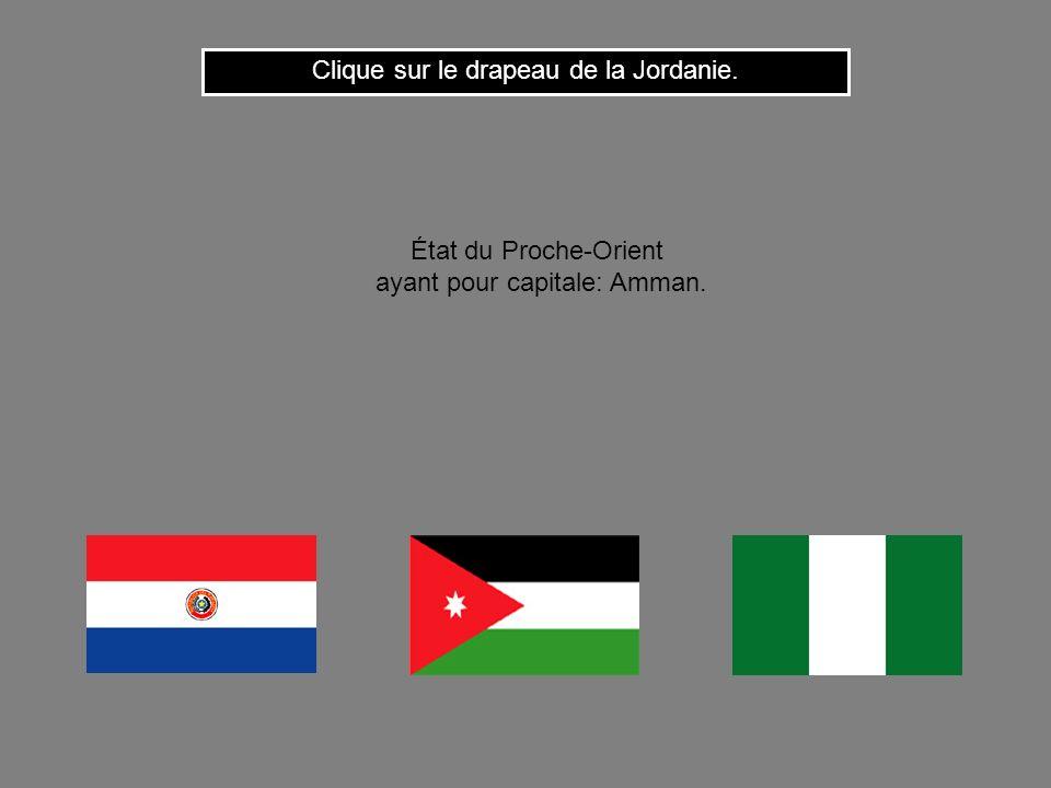 Clique sur le drapeau de la Jordanie.