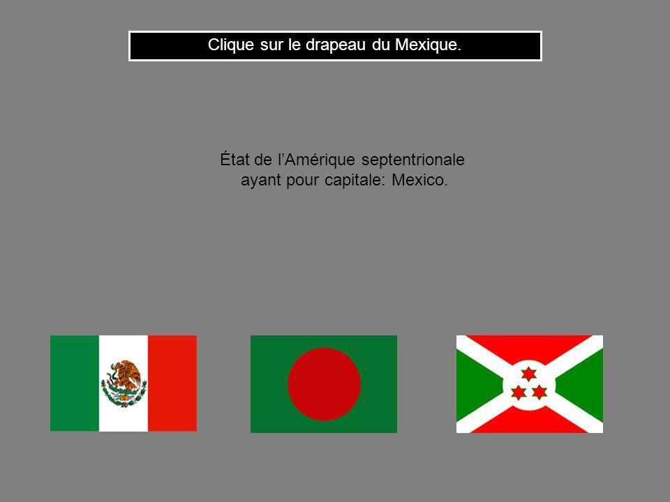 Clique sur le drapeau du Mexique.