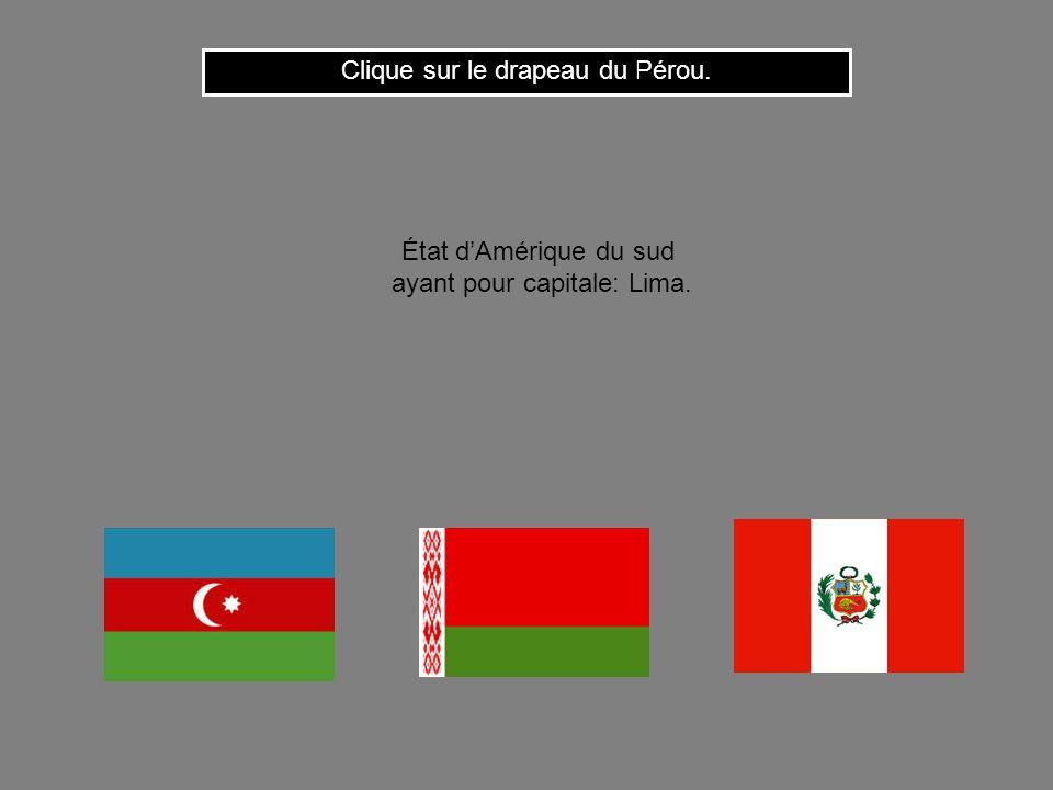 Clique sur le drapeau du Pérou.