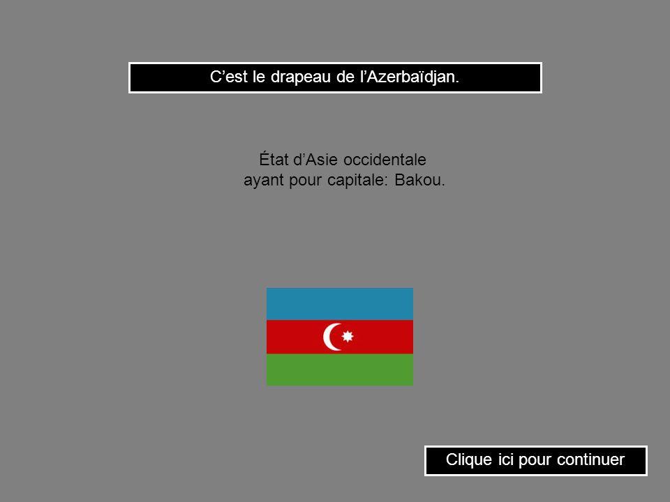 C'est le drapeau de l'Azerbaïdjan.