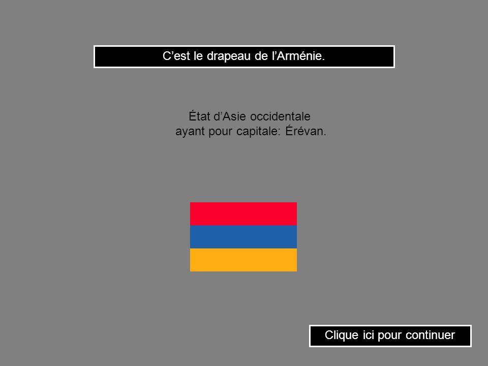 C'est le drapeau de l'Arménie.