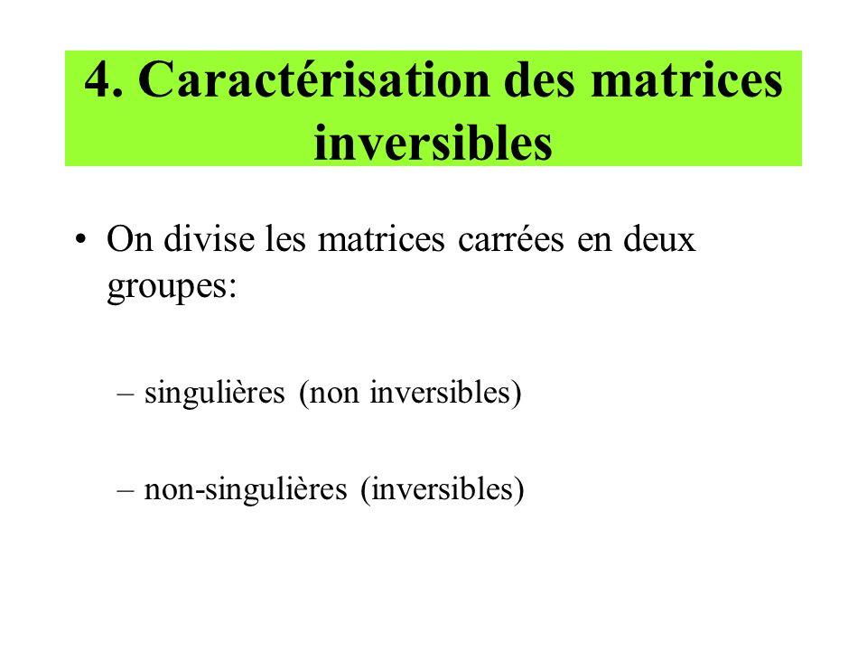 4. Caractérisation des matrices inversibles