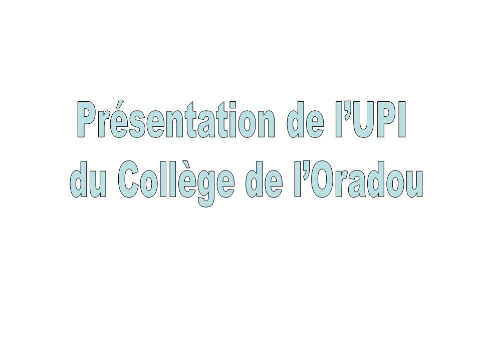 Présentation de l'UPI du Collège de l'Oradou