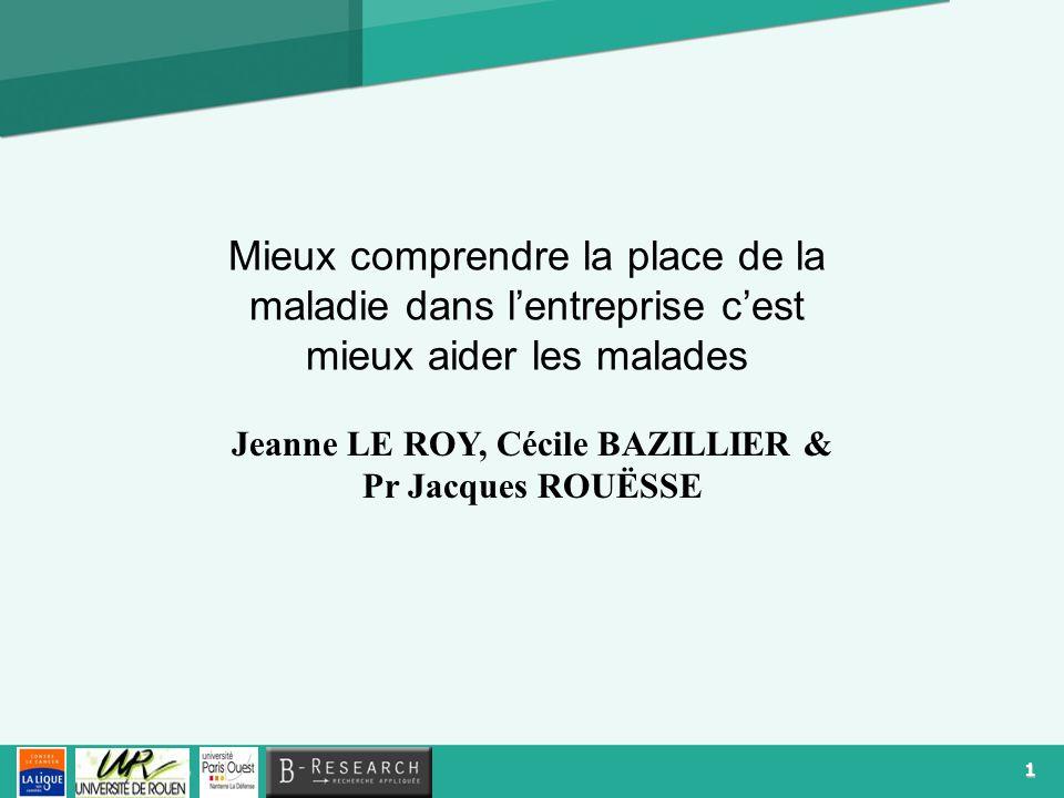 Jeanne LE ROY, Cécile BAZILLIER & Pr Jacques ROUËSSE