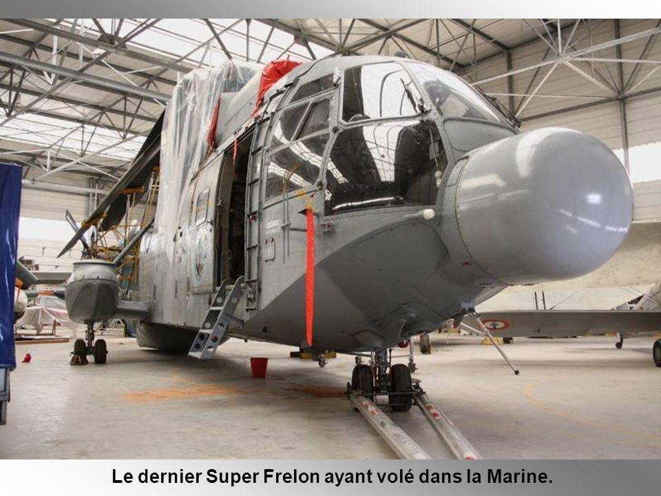 Le dernier Super Frelon ayant volé dans la Marine.