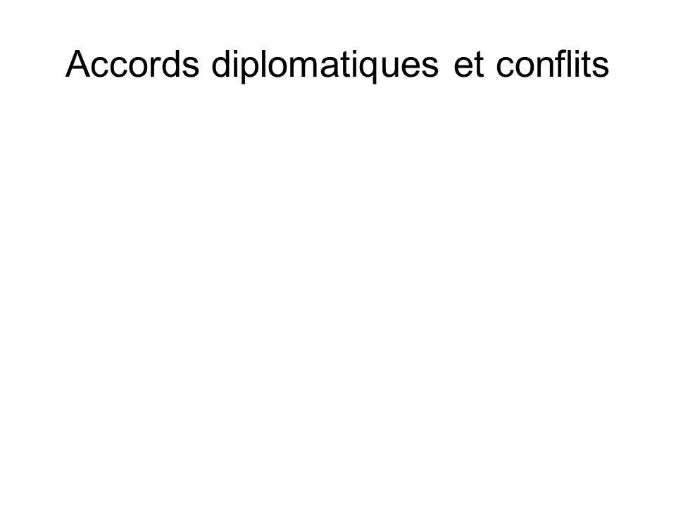 Accords diplomatiques et conflits