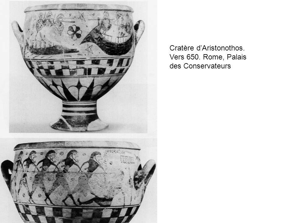 Cratère d'Aristonothos. Vers 650. Rome, Palais des Conservateurs