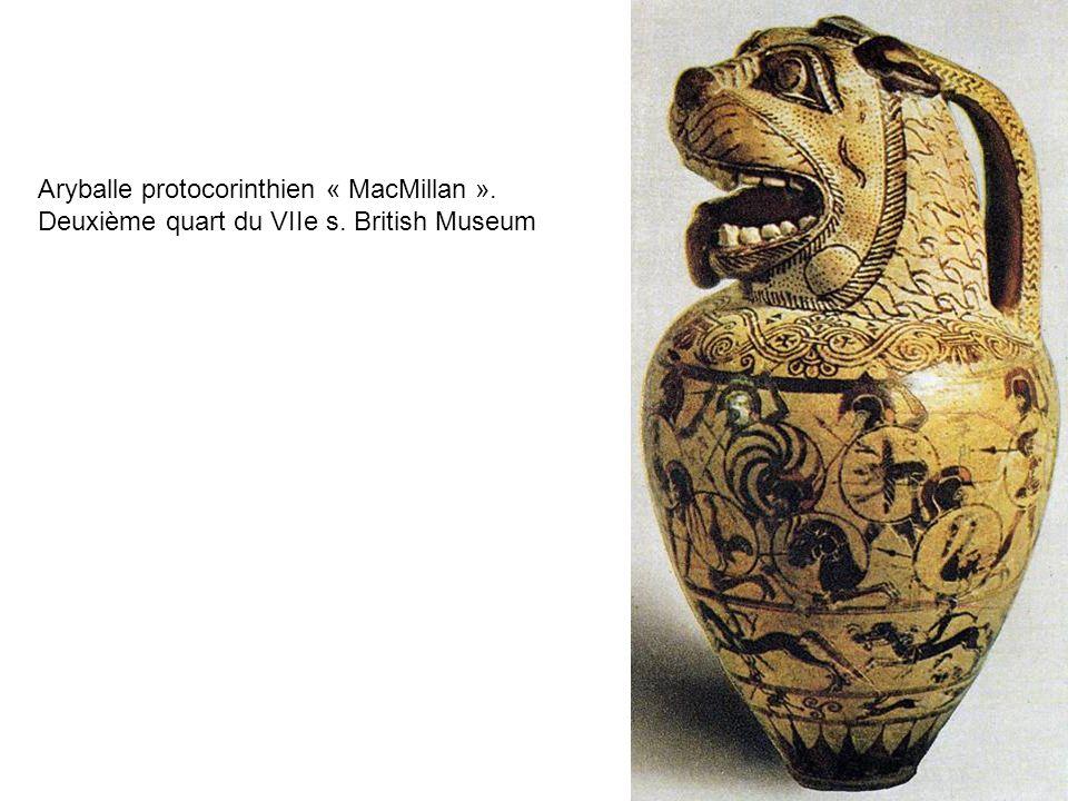 Aryballe protocorinthien « MacMillan ». Deuxième quart du VIIe s