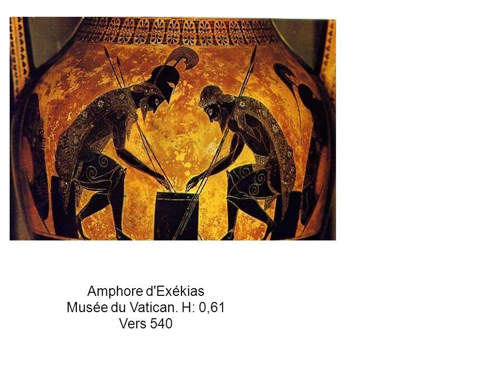 Amphore d Exékias Musée du Vatican. H: 0,61 Vers 540